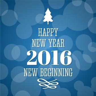 Nova saudação feliz ano