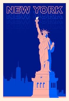 Nova york, a estátua da liberdade
