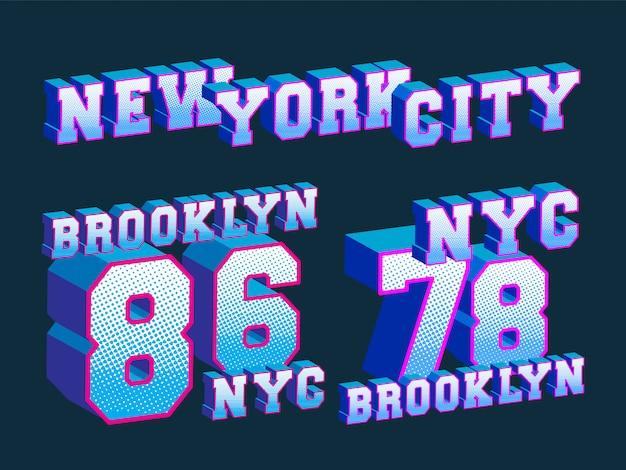 Nova york - brooklyn - impressão de t-shirt de nova york