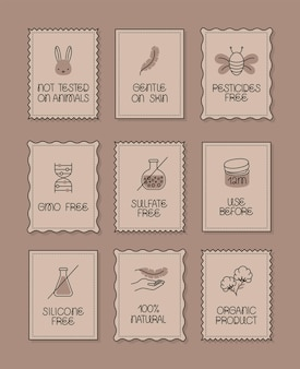 Nove etiquetas de produtos ecológicos