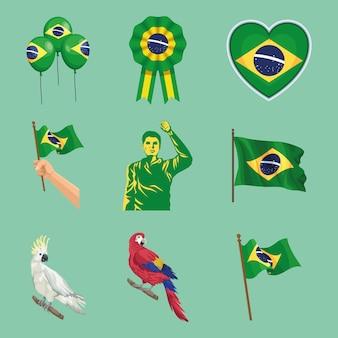 Nove ícones da independência do brasil