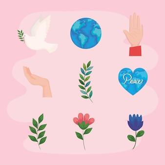 Nove ícones da paz