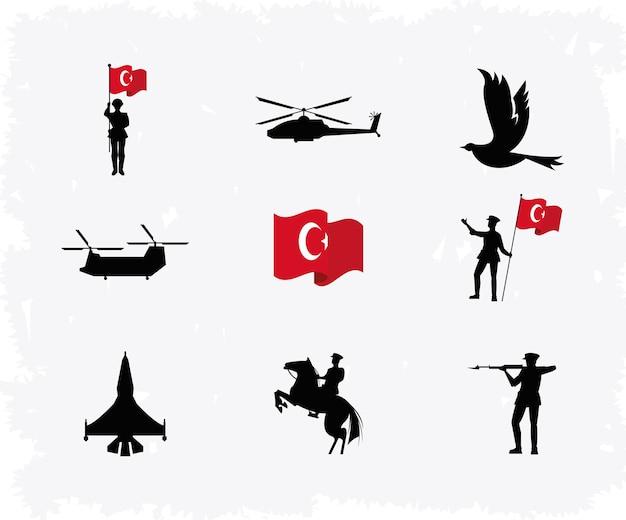 Nove ícones zafer bayrami