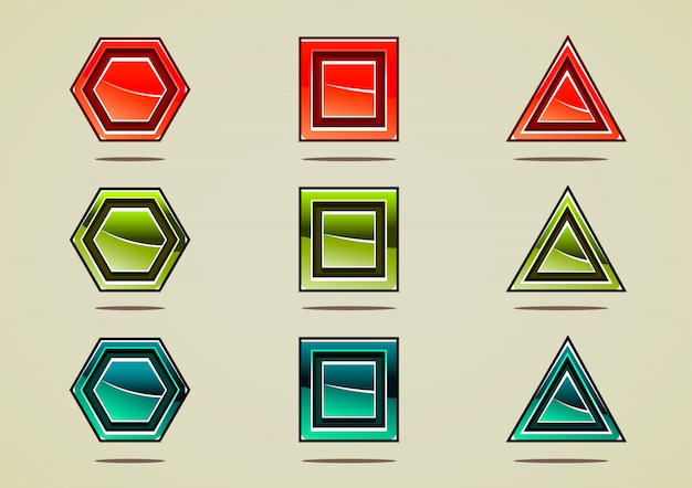 Nove pedras coloridas