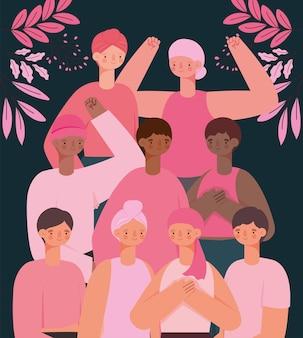 Nove sobreviventes do câncer