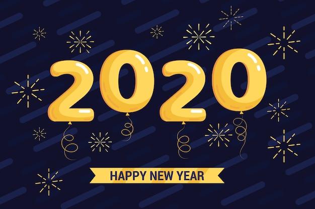 Novo ano 2020 em design plano