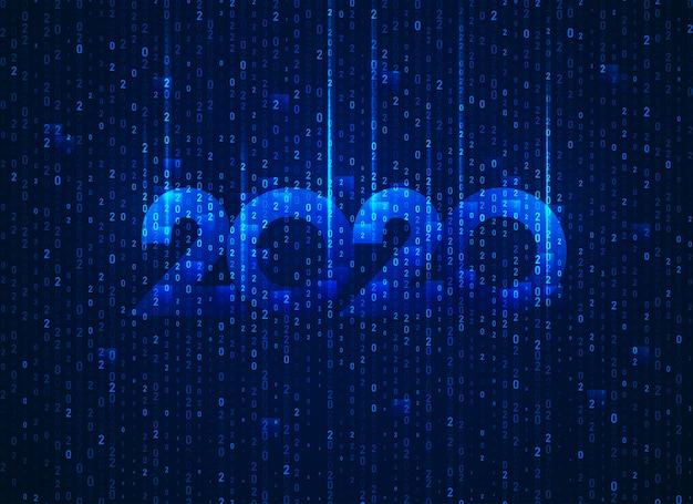 Novo ano 2020 em tecnologia conceitual