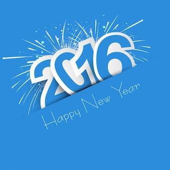 Novo ano de 2016 cartão de
