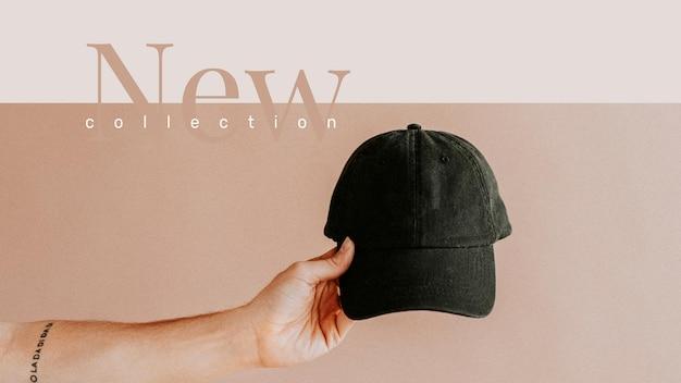 Novo banner de anúncio de moda estética de vetor de modelo de compras de coleção
