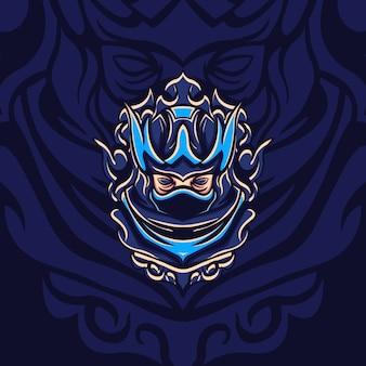 Novo blue shadow assassin para jogos de mascote, sinais ou outro