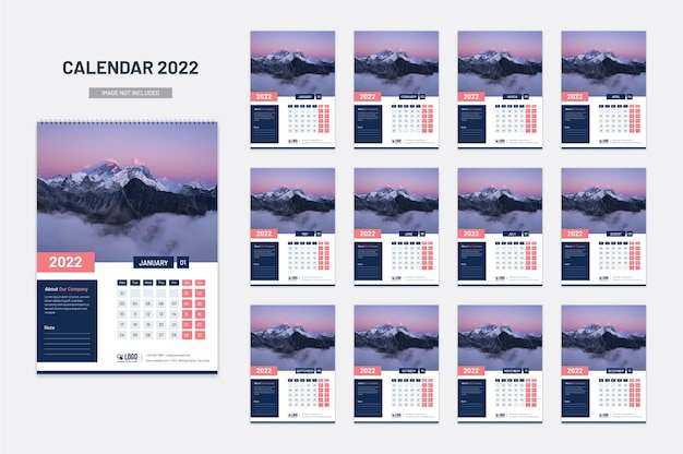Novo calendário de parede 2022