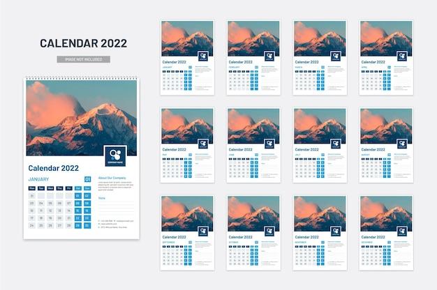 Novo calendário de parede, planejador de data 2022