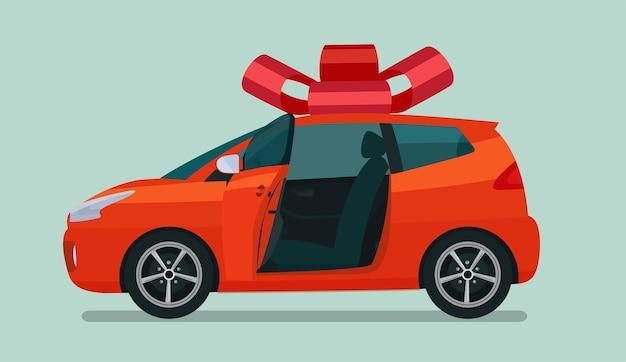 Novo carro compacto hatchback como presente