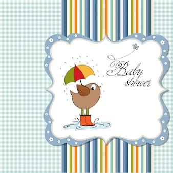 Novo cartão de anúncio do bebê