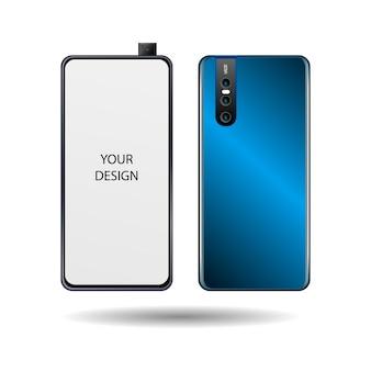 Novo celular com tela branca