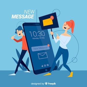 Novo conceito de página de destino da mensagem