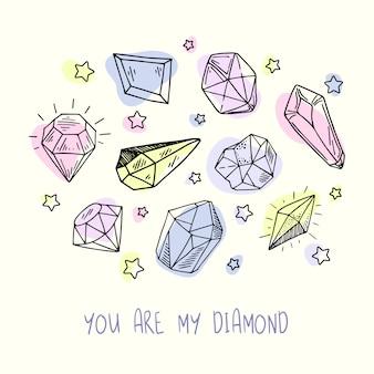 Novo conjunto de cristais