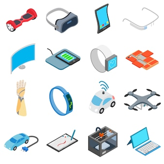 Novo conjunto de ícones de tecnologia