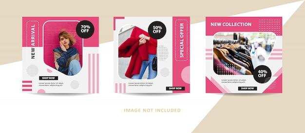 Novo conjunto de modelo de banner de coleção