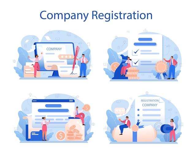 Novo conjunto de registro de empresa