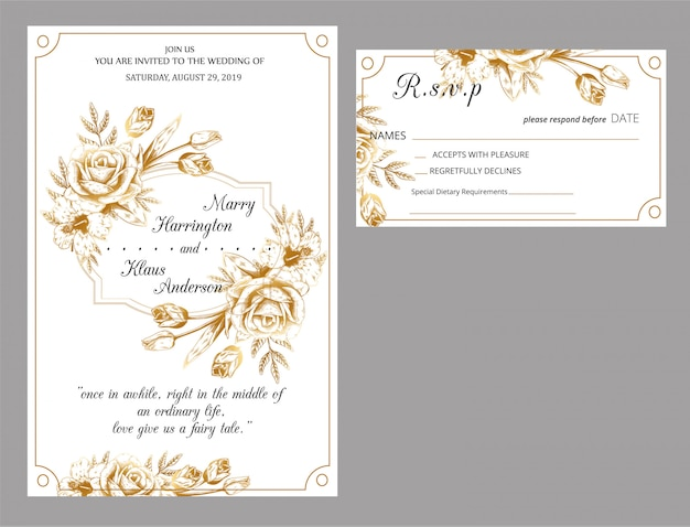 Novo convite de casamento