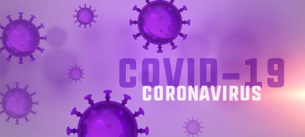 Novo design de banner de propagação pandêmica de coronavírus covid-19