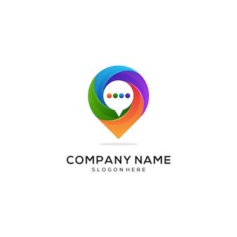 Novo design de ícone de logotipo colorido