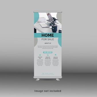 Novo design de modelo de banner cumulativo premium abstrato