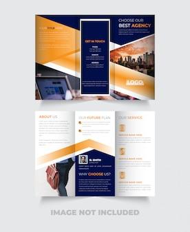 Novo design de modelo de folheto com três dobras criativo
