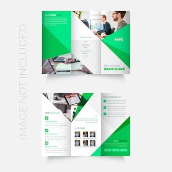 Novo design de modelo de folheto dobrável em três partes profissional