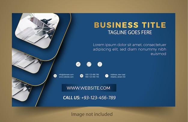 Novo design moderno de banner empresarial