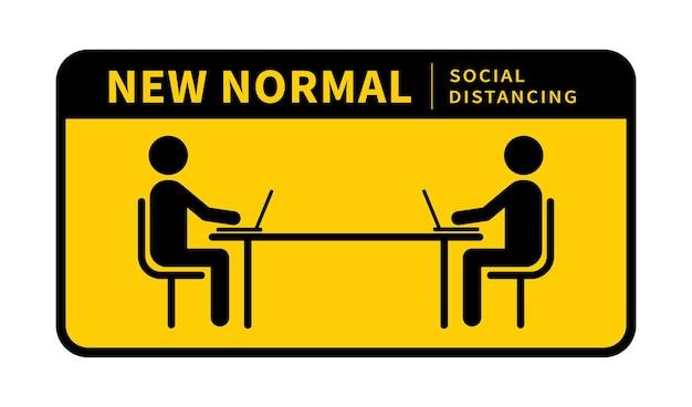 Novo distanciamento social normal mantenha a distância de 12 metros