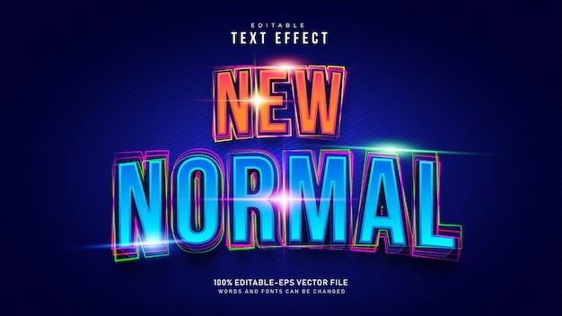 Novo efeito de texto normal