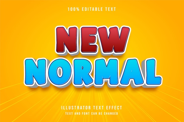 Novo estilo de texto normal e editável em 3d com gradação de vermelho moderno e estilo de texto azul