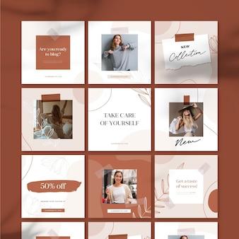 Novo feed de quebra-cabeça instagram de venda de coleção