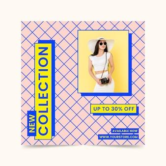 Novo flyer quadrado de coleção