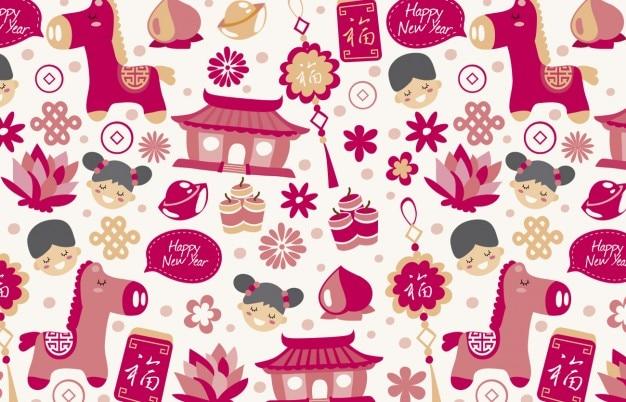 Novo fundo feliz ano chinês