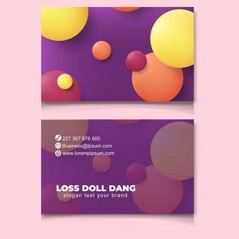 Novo modelo de cartão de negócios moderno na moda abstrato