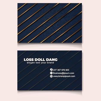 Novo modelo de cartão de negócios moderno na moda ouro