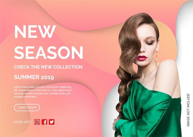 Novo modelo de promoção de banner de coleção