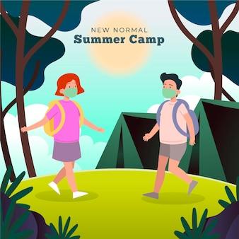 Novo normal em acampamentos de verão
