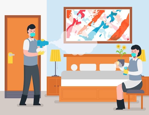 Novo plano normal na ilustração de hotéis