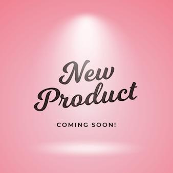 Novo produto em breve design de plano de fundo de cartaz