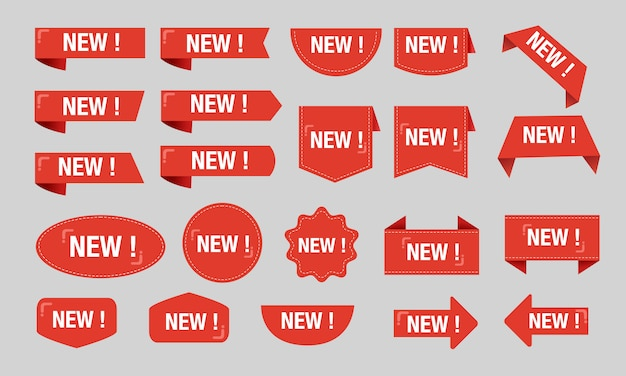 Novo rótulo vermelho desconto venda grande conjunto de coleta