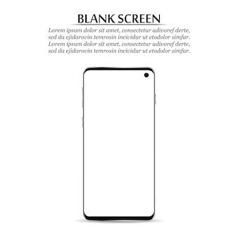 Novo smartphone com tela em branco.