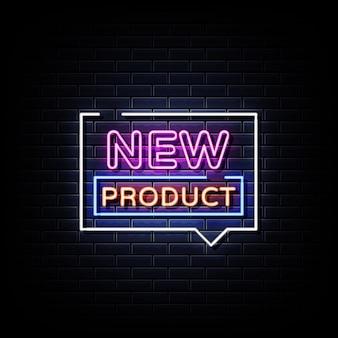 Novo texto de estilo de sinais de néon de produto