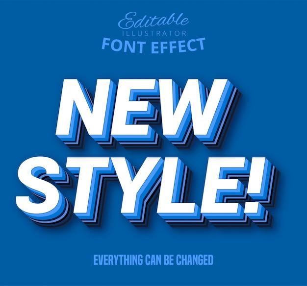 Novo texto de estilo, efeito de texto editável