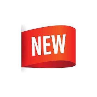 'novo' texto no banner vermelho