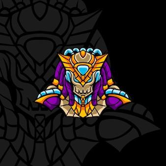 Novo time do faraó para mascote, sinal ou outro jogo de equipe