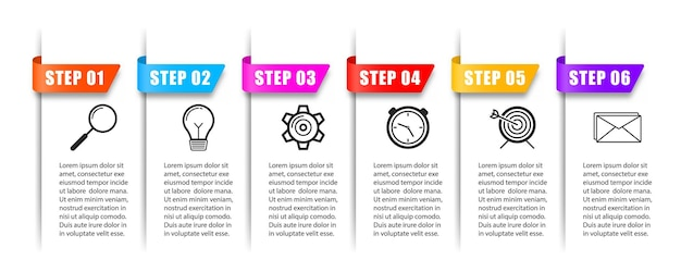 Novos banners de infográfico podem ser usados para diagrama de banner de layout de fluxo de trabalho